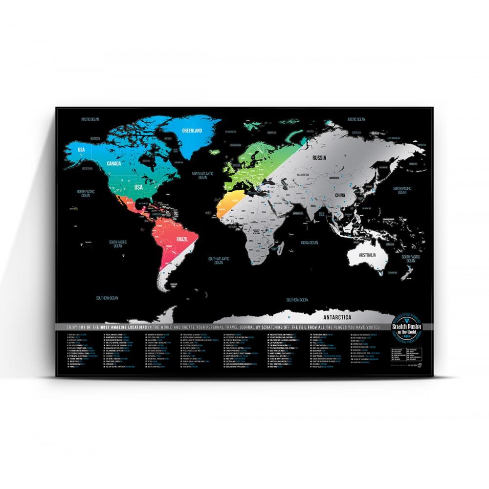 Скреч карта 101 - Цветна