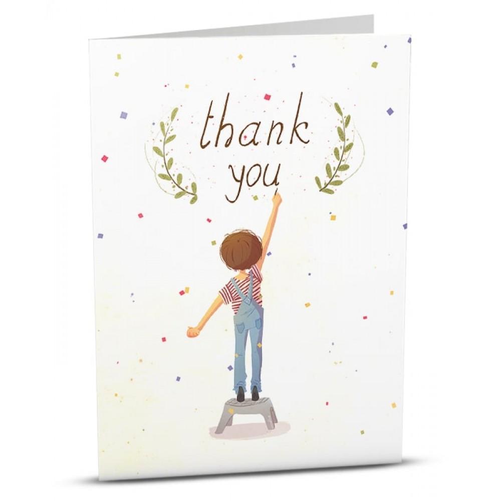 Картичка Благодаря Момче