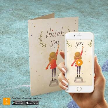 Картичка Благодаря Момиче