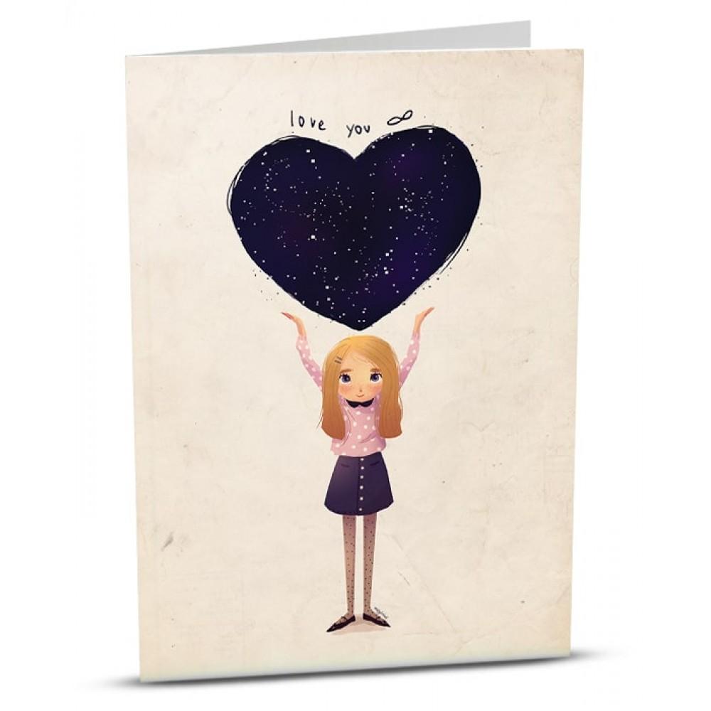 Картичка Ти си моята Вселена
