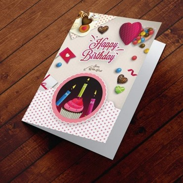 Картичка Празнични бонбони