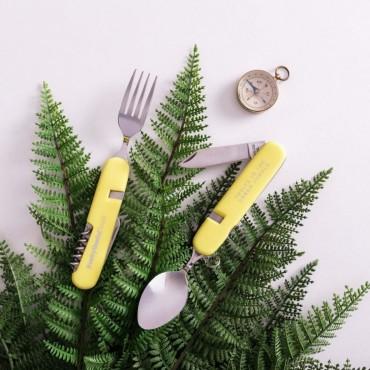 Многофункционални прибори за хранене - жълти