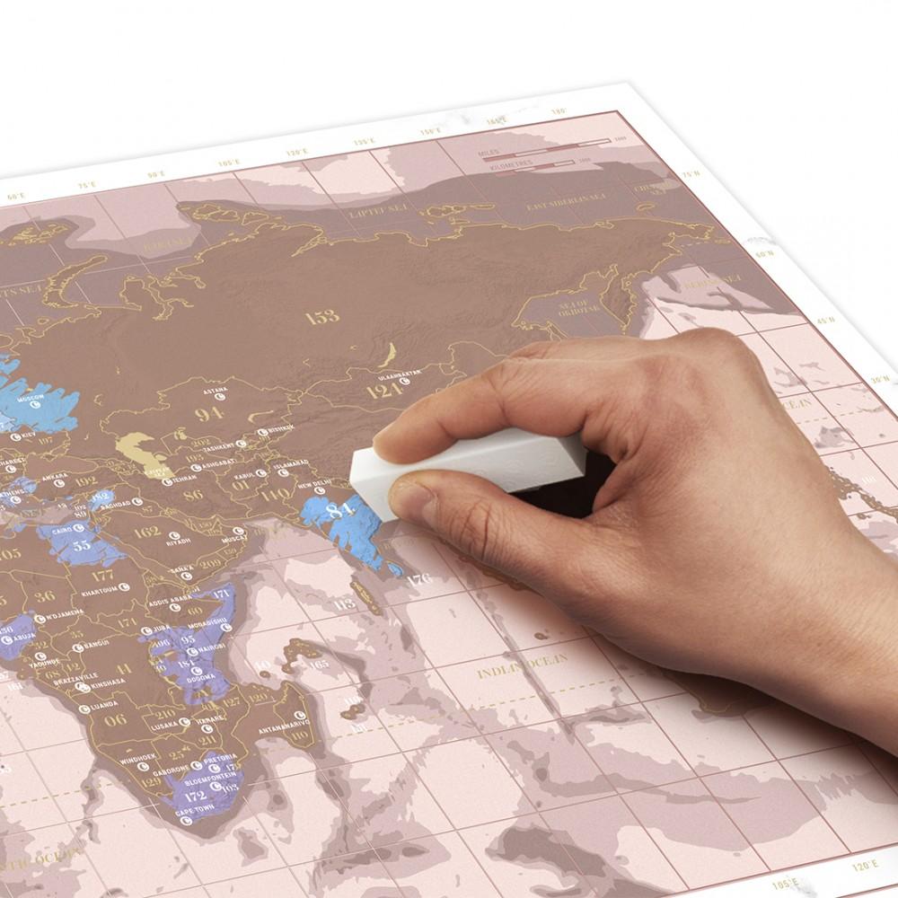 Скреч карта Мини - Розово злато