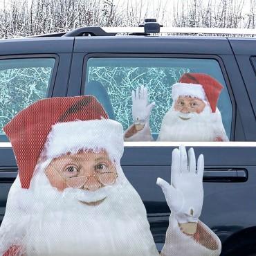 Коледен стикер за кола