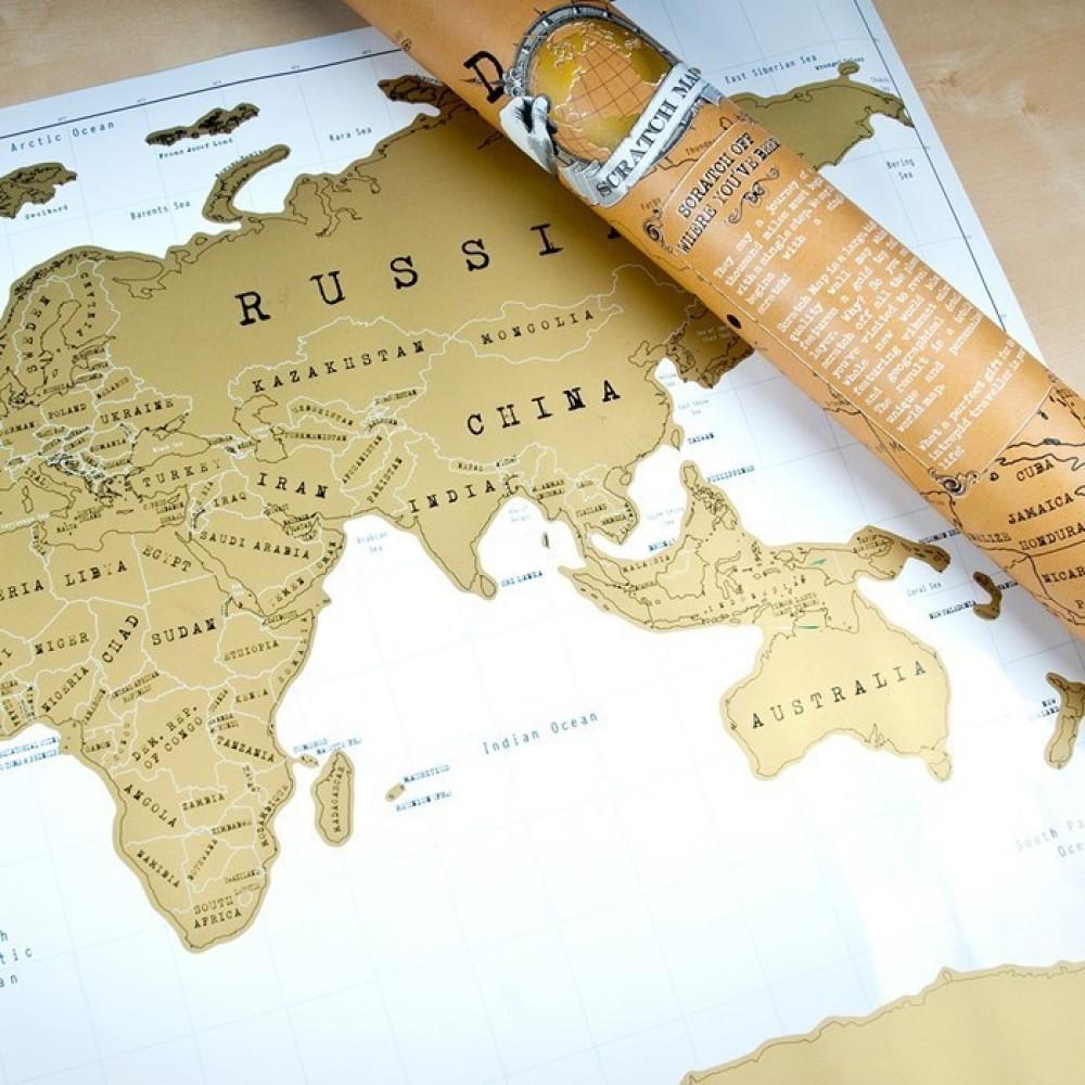 Скреч карта Свят
