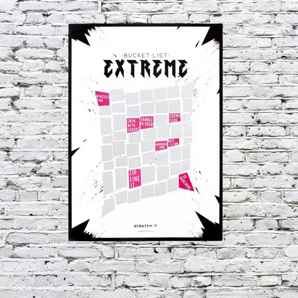 Екстремен скреч постер